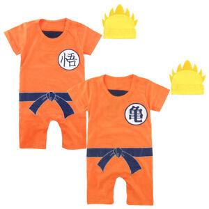 Baby Boys Dragon Ball Z Romper Newborn Goku Costume Jumpsuit Outfit ... 2ebff57eaf
