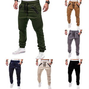 Mens-Casual-Pants-Joggers-Trousers-Fold-Sweatpant-Tracksuit-Activewear-Bottoms