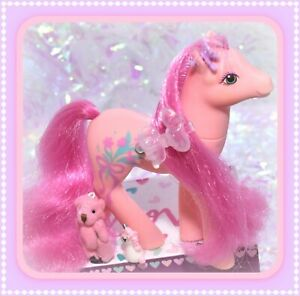 My-Little-Pony-MLP-G1-Vtg-Sweetheart-Sister-Dainty-Pink-Fancy-Flower-Floral