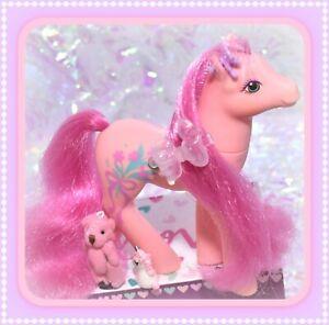 My-Little-Pony-MLP-G1-Vtg-Sweetheart-Sister-Dainty-Pink-Fancy-Flower-Floral