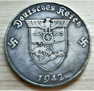 WW2-5-RM-COLLECTORS-GERMAN-COMMEMORATIVE-COLLECTORS-COIN-039-41-039-42-KRIM