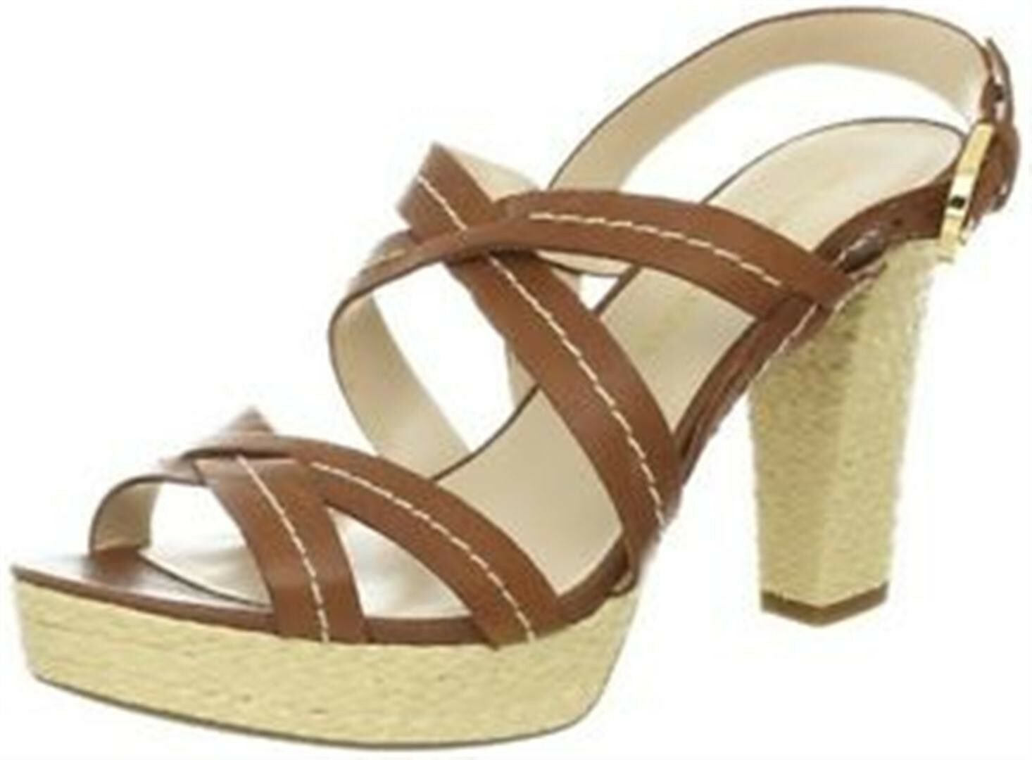 New Franco Sarto  Indira Saddle Platform Leather Sandal femmes sz 9