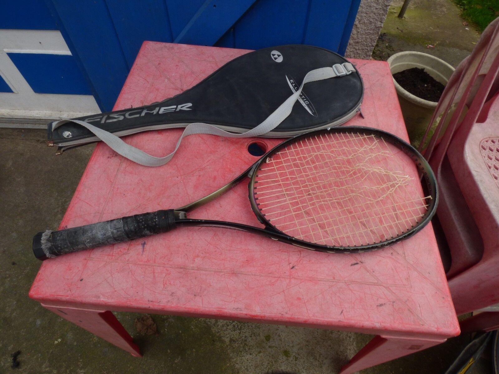 Tennisschläger vintage Fischer elliptische mitte Plus mit Bezug Bezug Bezug 65984c