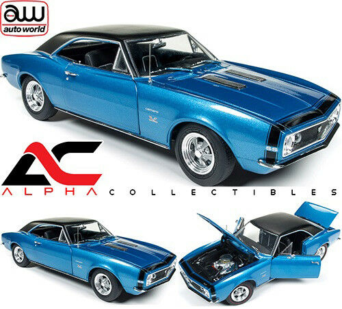 Autoworld AMM1118 1 18 1967 Chevrolet Camaro Baldwin Motion ss ss ss 427 Azul ab1ed7