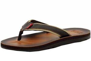 75fecd84fe6cf Details about Men Levis Heartland Mix J2 Brown 516325 Sandal Fit Flop Thong  New Original