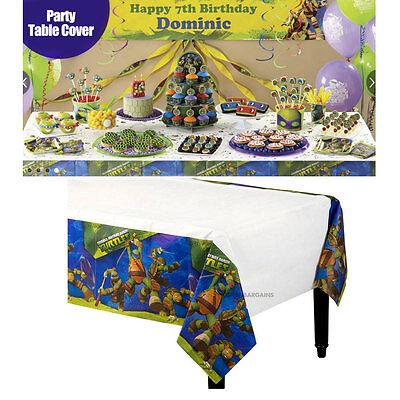 NEW Boys TMNT Ninja Turtles Birthday Party Plastic Tablecloth 108cms x 180cms