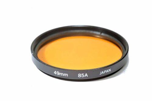Kood 85A filtro de vidrio de alta calidad hecha en Japón 49mm Filtro 85A 49mm