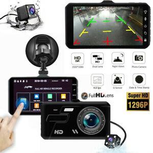 HD 1080P coche Dash Cámara Grabadora LCD de Doble Lente Dvr Cámara frontal y posterior inversa