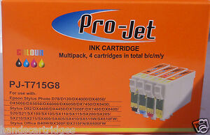 Any 16 Non Oem Compatible Projet Cartouches T711 T712 T713 T714 (lot De 4) AgréAble En ArrièRe-GoûT