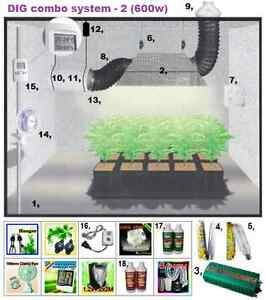 Image is loading 600w-DIGITAL-Ballast-&-Ventilation-System-Grow-Tent-  sc 1 st  eBay & 600w DIGITAL Ballast u0026 Ventilation System Grow Tent Setup ...