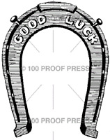100 Proof Press Rubber Stamps Good Luck Horse Shoe Stamp