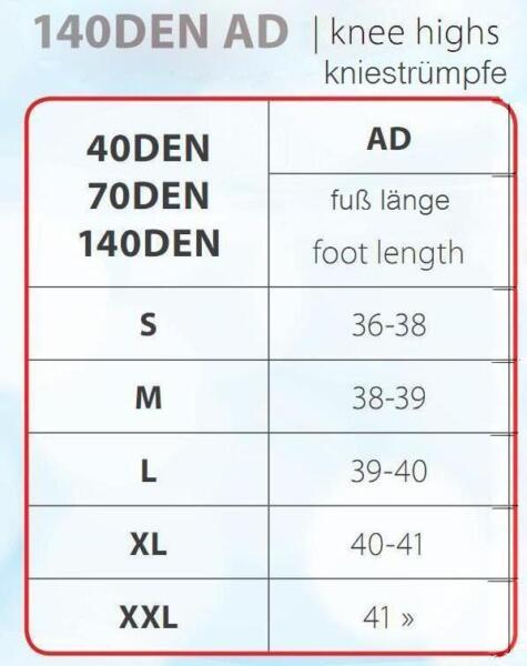 Kompressionsstrümpfe Stützstrümpfe Kniestrümpfe 140den