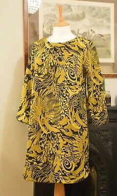 PER UNA NAVY BLUE MULTI BURNOUT ABSTRACT PRINT JERSEY SUMMER DRESS SIZE 8-22 NEW