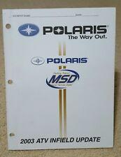 2003 OEM Polaris ATV Infield Update MSD service manual