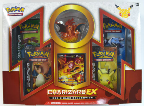 Pokemon Red /& Blue Charizard EX Factory Sealed Collection Box
