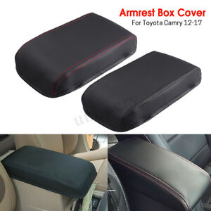 Car-Arm-Rest-Center-Armrest-Box-Cover-Protection-Leather-For-Toyota-Camry