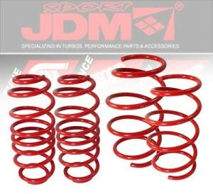 89-94-Mit-Eclipse-Jdm-Suspension-Lower-Lowering-2-0-034-Drop-Spring-Coil-Kit-Red