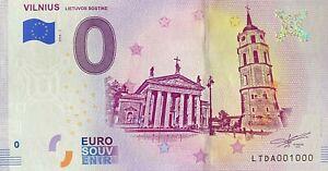 BILLET-0-EURO-VILNIUS-LIETUVOS-SOSTINE-2018-NUMERO-1000