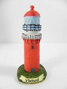 Antiquitäten & Kunst Maritime Dekoration Leuchtturm Vlieland Nordsee Wattenmeer,11 Cm Poly Modell,neu