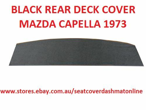 BLACK BLACK REAR DECK COVER  MAZDA CAPELLA 1973 MODEL
