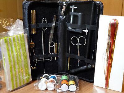 Fliegenbinden Set komplett mit Werkzeug und Bindematerial
