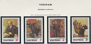 VIETNAM-N-534-537-LENINE-1984-Vietnam-1452-1455-LENIN-MNH