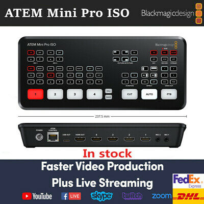 Original Blackmagic Design Atem Mini Pro Iso Hdmi Live Stream Switcher Multiview Ebay