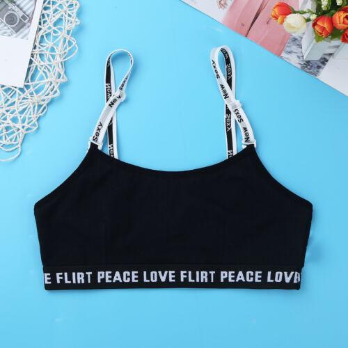 Girls Kids Dance Sports Bra Top Crop Top Gymnastics Tank Dancewear Vest Shirts