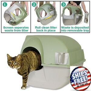 Image is loading Omega-Paw-Self-Cleaning-Automatic-Cat-Litter-Box-  sc 1 st  eBay & Omega Paw Self Cleaning Automatic Cat Litter Box Large Rollu0027n ... Aboutintivar.Com