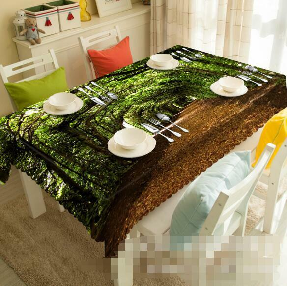3D Tree Hole 4 Tablecloth Table Cover Cloth Birthday Party Event AJ WALLPAPER AU