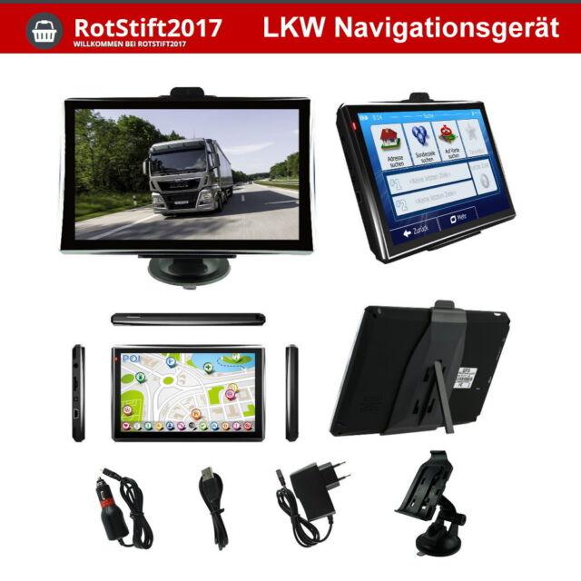 MediaTek 7 Zoll LKW PKW BUS Navi Navigation Navigationsgerät GPS POI Blitzer