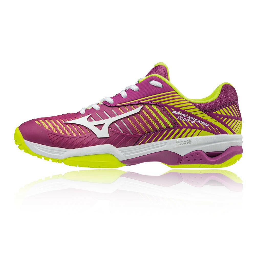 Mizuno Damen Wave Exceed Tour 3 All Court Tennis Schuhe Sportschuhe lilat