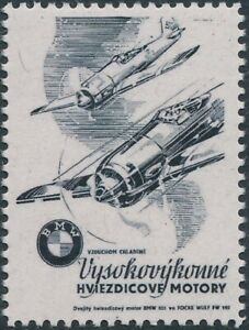 Stamp Replica Label Germany 0303 WWII 3rd Reich Luftwaffe BMW Motors MNH