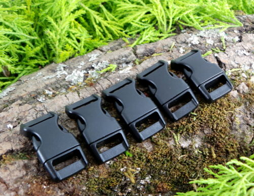 """15mm 5//8/"""" CONTOURED CURVED QUICK RELEASE SIDE release PARACORD BUCKLES BUSHCRAFT"""