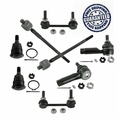 Lower Control Arm Ball Joint Sway Bar Link Outer Tie Rod Set for Altima Maxima