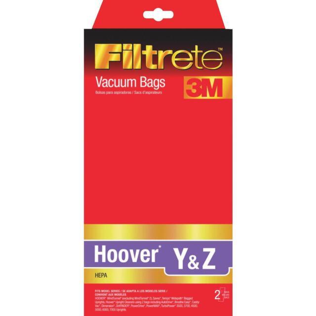 3M Filtrete Hoover Y /& Z Vacuum Bag 9 Pack