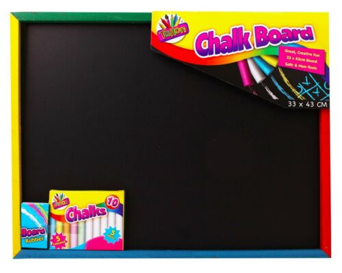 A3-A4 Large Small Chalk Black Board Blackboard Dry Wipe Erase White Chalk Eraser