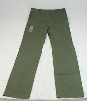 NWT Womens Lacoste Twill Wide Leg Chino Pants Green Size 38/6 $185 HF1199