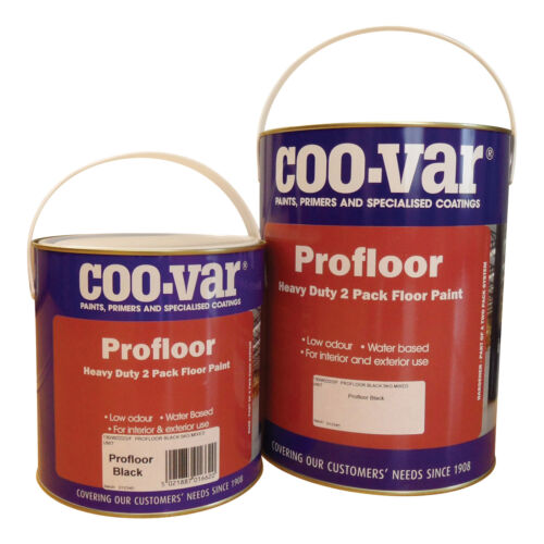 CooVar Grey Pro Floor Paint 2 Pack Water Based 5Kg