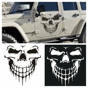 Hood-Decal-Vinyl-Sticker-Skull-Car-Auto-Tailgate-Window-Reflective-Truck-SUV-16-034