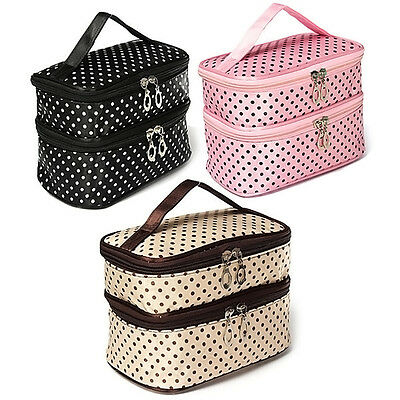 Travel Toiletry Cosmetic Bag Makeup Case Organizer Zipper Holder Handbag