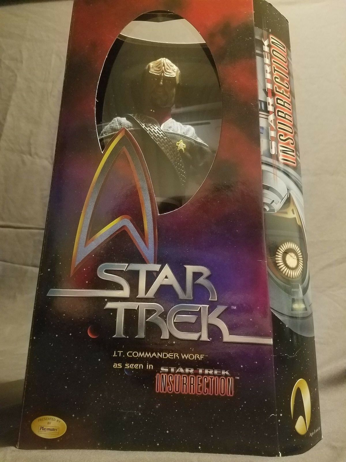 Star Trek 12 inch Insurrection Worf Action Figure Factory Sealed
