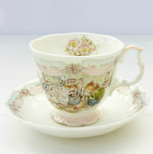 Royal Doulton Brambly Hedge The Engagement Bone China Tea Cup Saucer Duo - <span itemprop=availableAtOrFrom>GRIMSBY, United Kingdom</span> - Returns accepted - GRIMSBY, United Kingdom