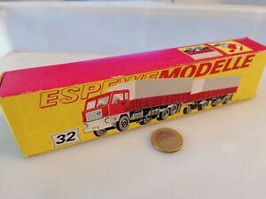 G784-ESPEWE-MODELLE-FERNLASTZUG-HANGERZUG-VOLVO-F88-Drehschemel-fehlt-Pap-Karton