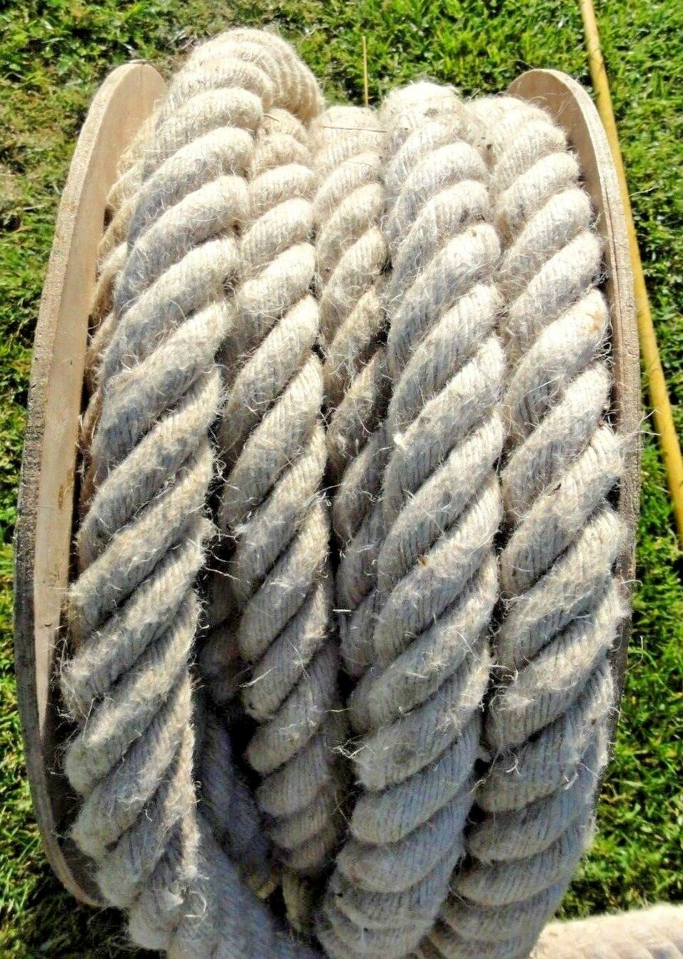 Natural Fibre Jute Rope 36mm  Swing beach hut garden arts& craft 5metre lengths