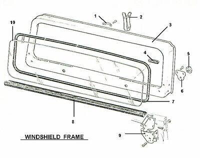 Jeep Wrangler Cj 76-86 Cowl /& Windshield Glass Seal  I J5453950+J5453949