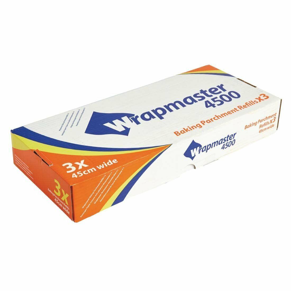 """Wrapmaster 4500 Baking Parchment 45cm X 50mtrs Refills 8WBP18 Parchment 18/"""""""