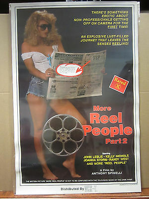 """Vintage /""""More Reel People Part 2/"""" Rated X movie hot girl man cave  3731"""