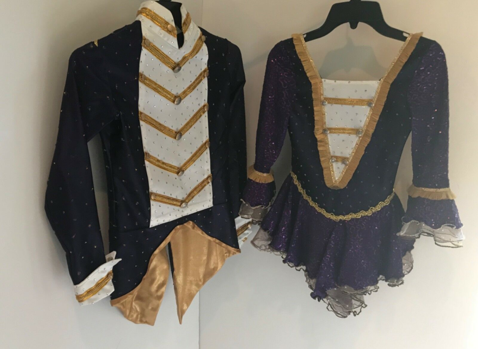 Competive s  team outfits for dance or pairs with  swartzski crystals  discount low price