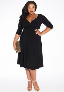 2d30556e8ab Igigi Women s Dress Size 18 20 Plus Size Black Francesca Style Party ...